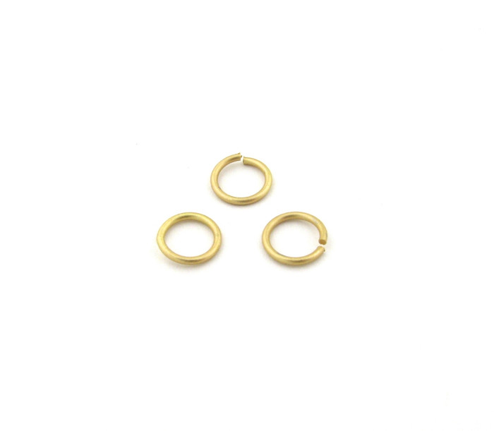 SHGP004 - 8mm 18ga Open Jump Ring, Satin Hamilton Gold Plated (pkg of 100)