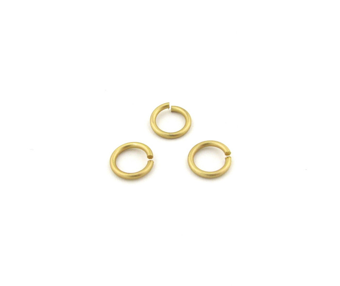 SHGP005 - 10mm 15ga Open Jump Ring, Satin Hamilton Gold Plated (pkg of 50)