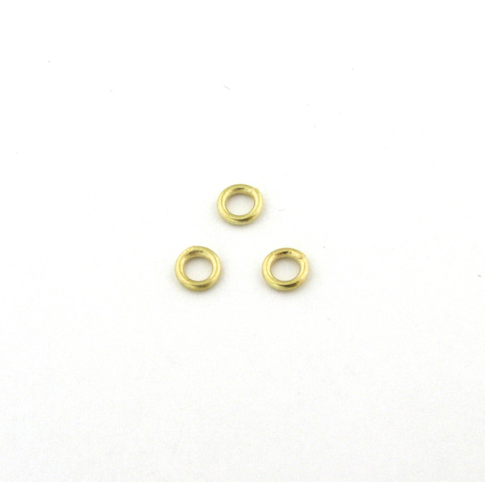 SHGP010 - 4mm 18ga Closed Jump Ring, Satin Hamilton Gold Plated (pkg of 50)