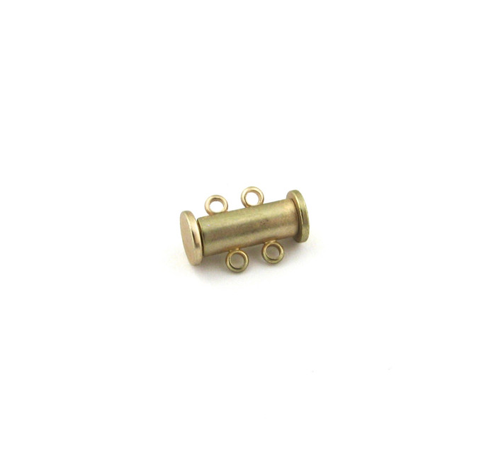 SHGP016 - 16mm 2-Strand Magnetic Tube Clasp, Satin Hamilton Gold Plated (each)