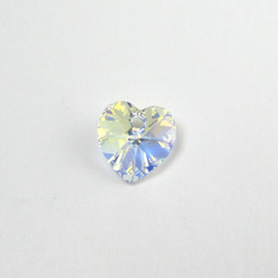 6202 - Swarovski Heart Pendant 10mm, Clear AB