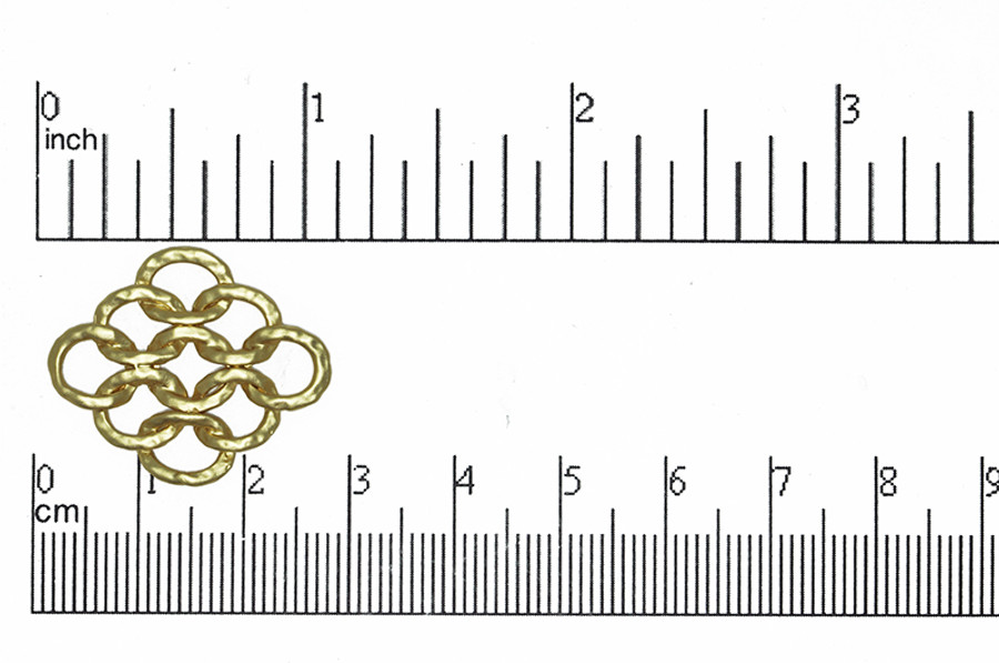 Satin Hamilton Gold 20mm x 20mm Box Square Connector (Sold by the Piece)