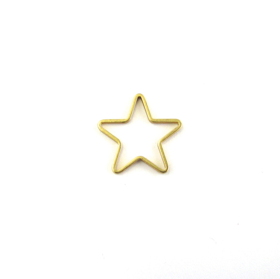 Satin Hamilton Gold 14mm Star Shaped Bauble. Also used as a Pendant or Connector (Sold by the Piece)