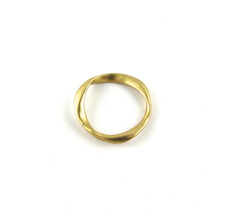 Satin Hamilton Gold 20mm Trendy Designer Ring (Sold by the Piece)