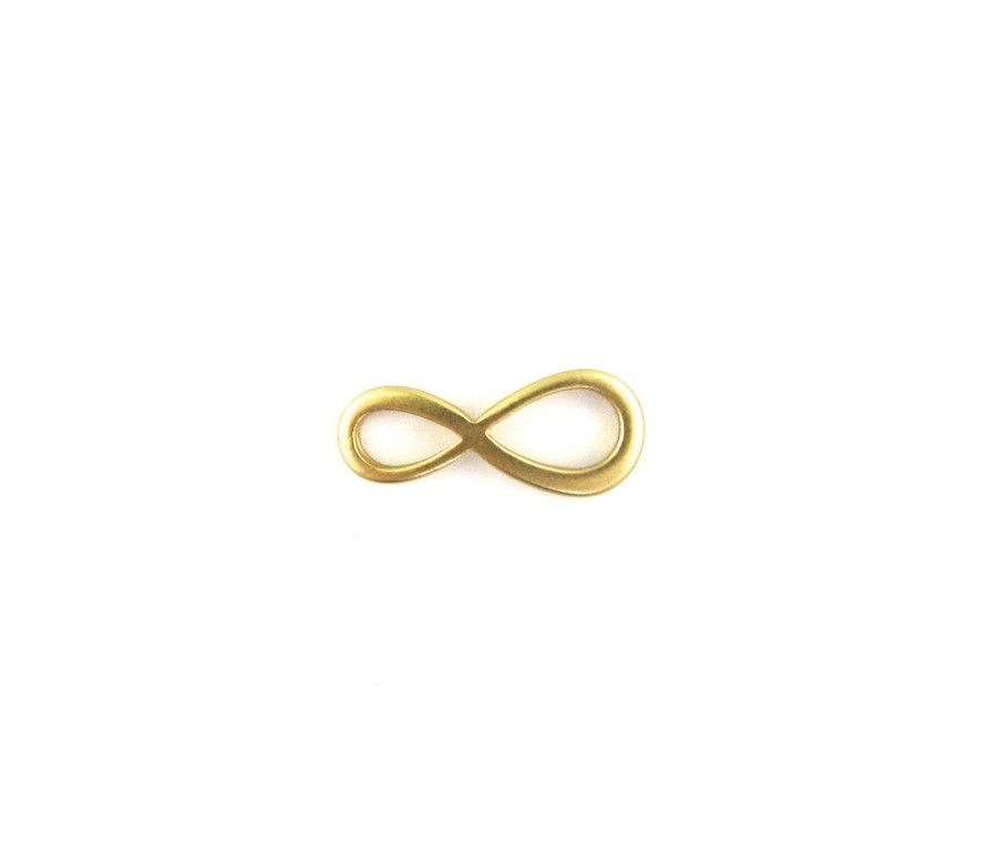 Satin Hamilton Gold 20mm Figure 8 Infinity. Also used as a Link, Connector or Pendant (Sold by the Piece)