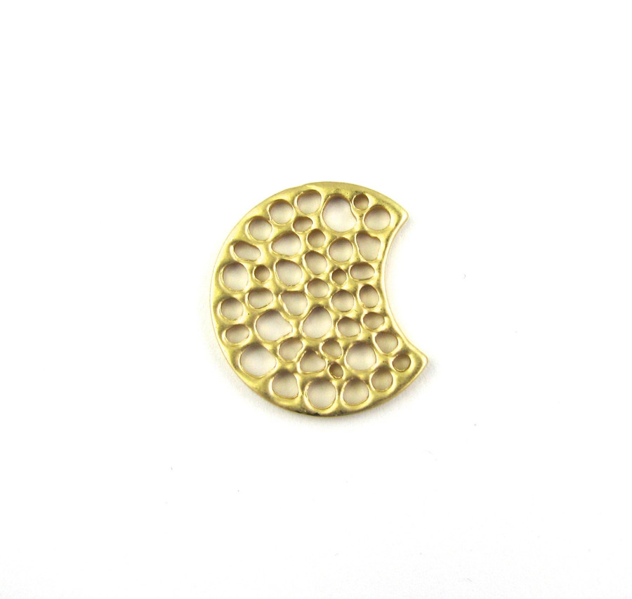Satin Hamilton Gold 24mm x 21mm Trendy Designer Connector (Sold by the Piece)