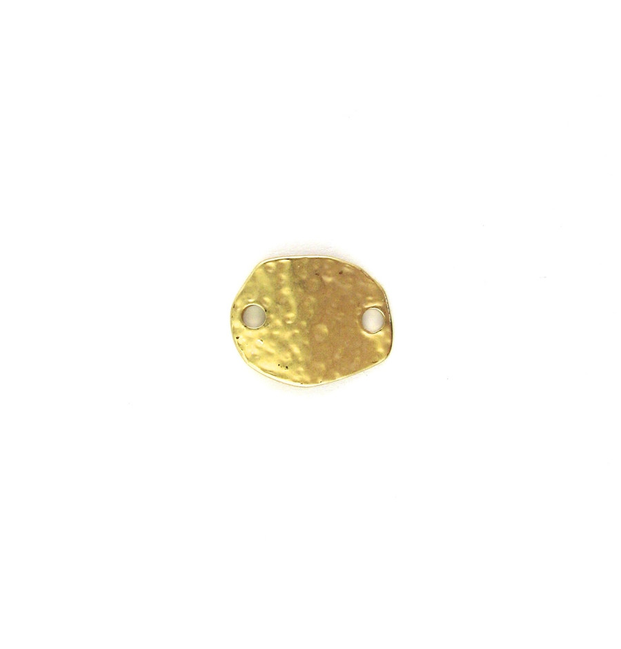 Satin Hamilton Gold 19mm x 15mm Flat textured Connector (Sold by the Piece)