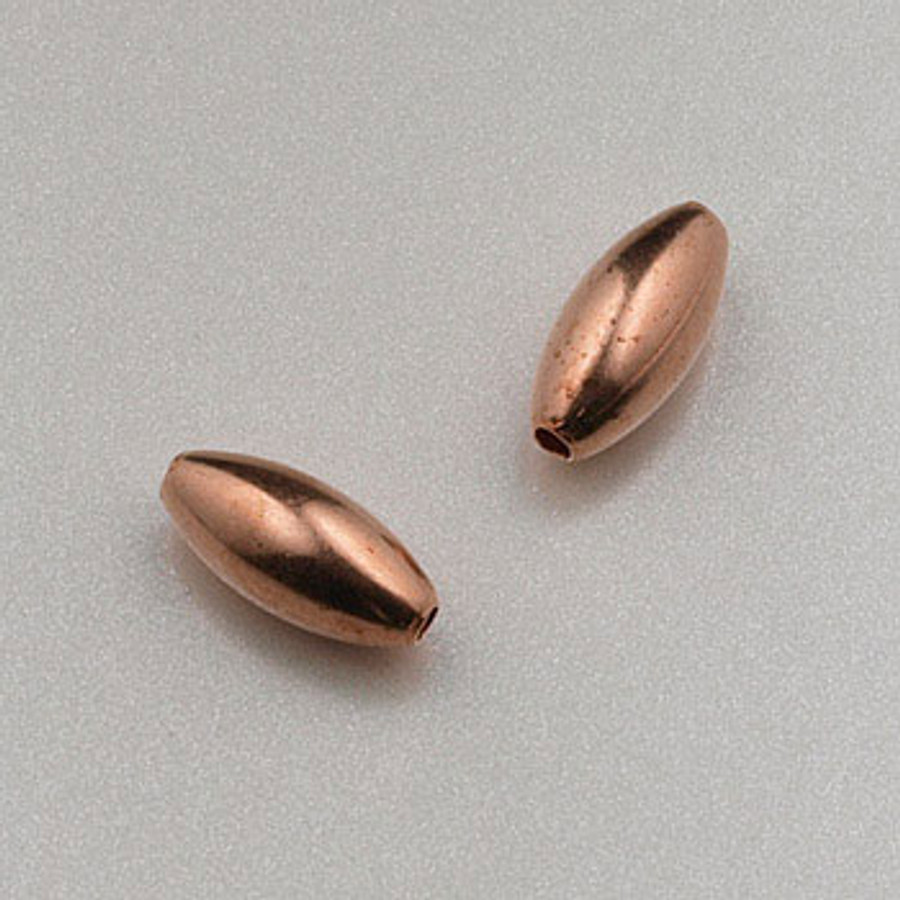 COP0008 - 3x7mm Melon Beads, Solid Copper (pkg of 50)
