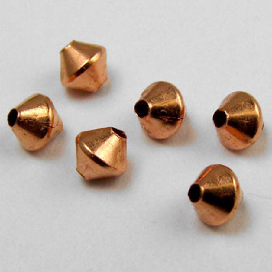 COP0014 - 3mm Bicones, Solid Copper (pkg of 100)