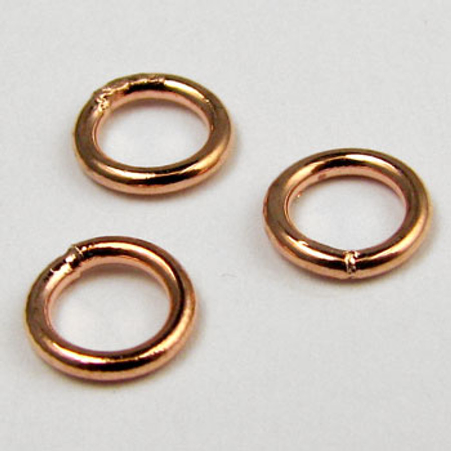 COP0022 - 6mm Closed Jump Ring, Copper Plated (pkg of 50)