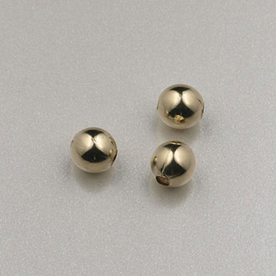 GF0002 - 3mm Round, Gold-Fill (pkg of 50)