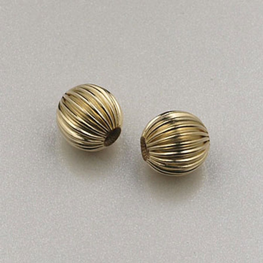 GF0017 - 5mm Corrugated Round, Gold-Fill (pkg of 25)
