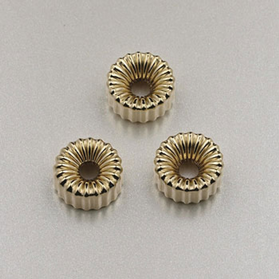GF0023 - 6mm Corrugated Tire, Gold-Fill (pkg of 25)