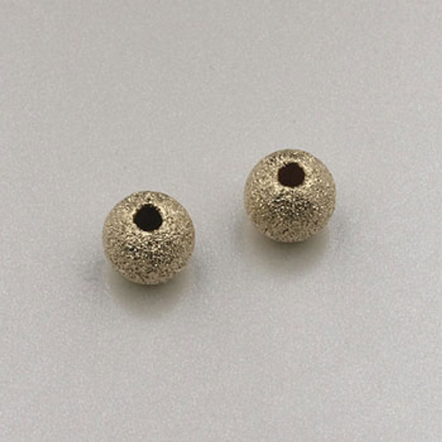GF0030 - 5mm Round ''Stardust'' Bead, Gold-Fill (pkg of 5)
