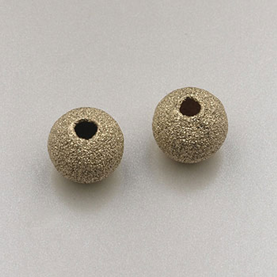 GF0033 - 8mm Round ''Stardust'' Bead, Gold-Fill (pkg of 5)