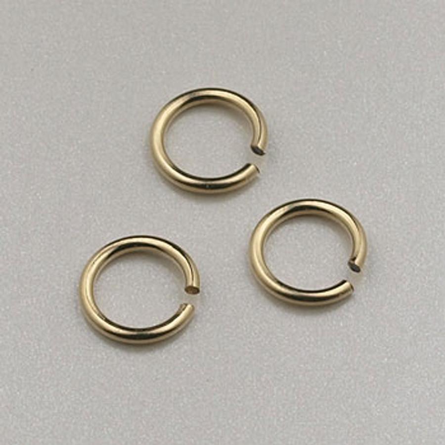 GF0045 - 6mm Jump Rings, Gold-Fill (pkg of 25)