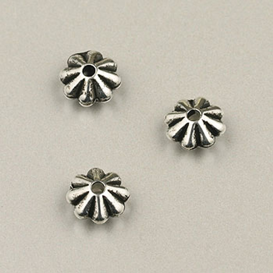 SP0019 - 6mm Daisy Silver Plate (pkg of 200)