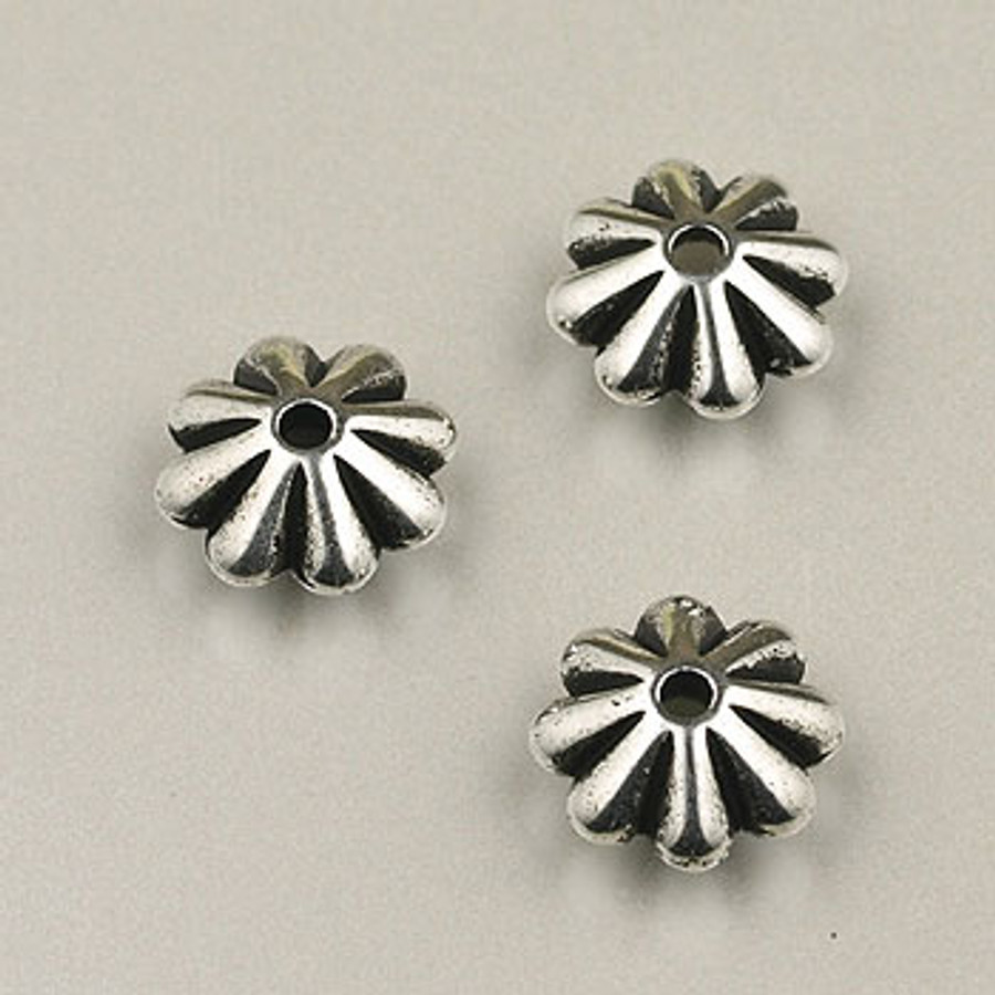 SP0021 - 9mm Daisy Silver Plate (pkg of 75)