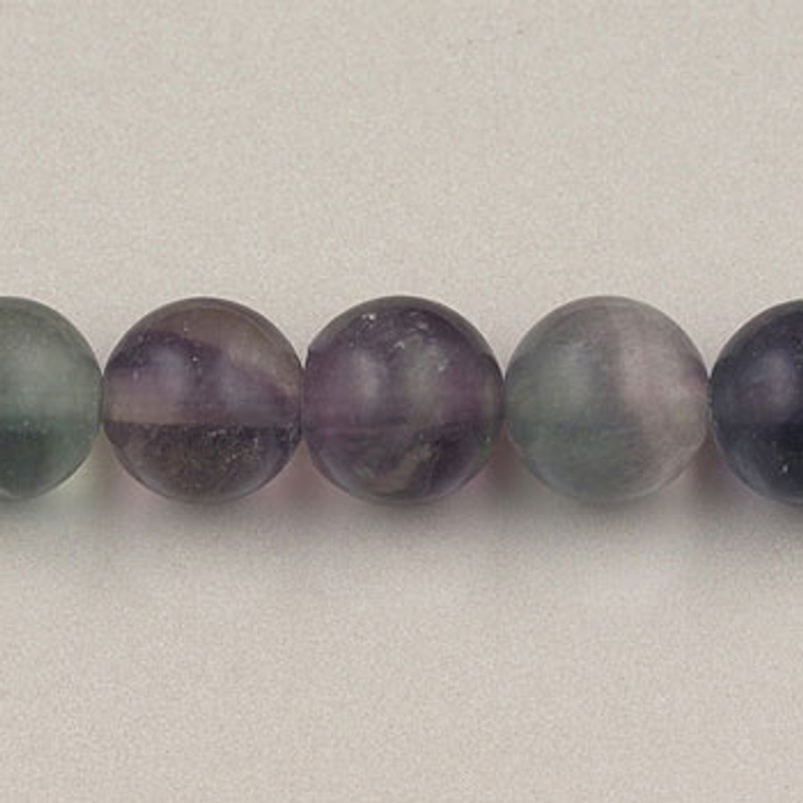 Fluorite, Round Beads (16 in. strand) 4mm