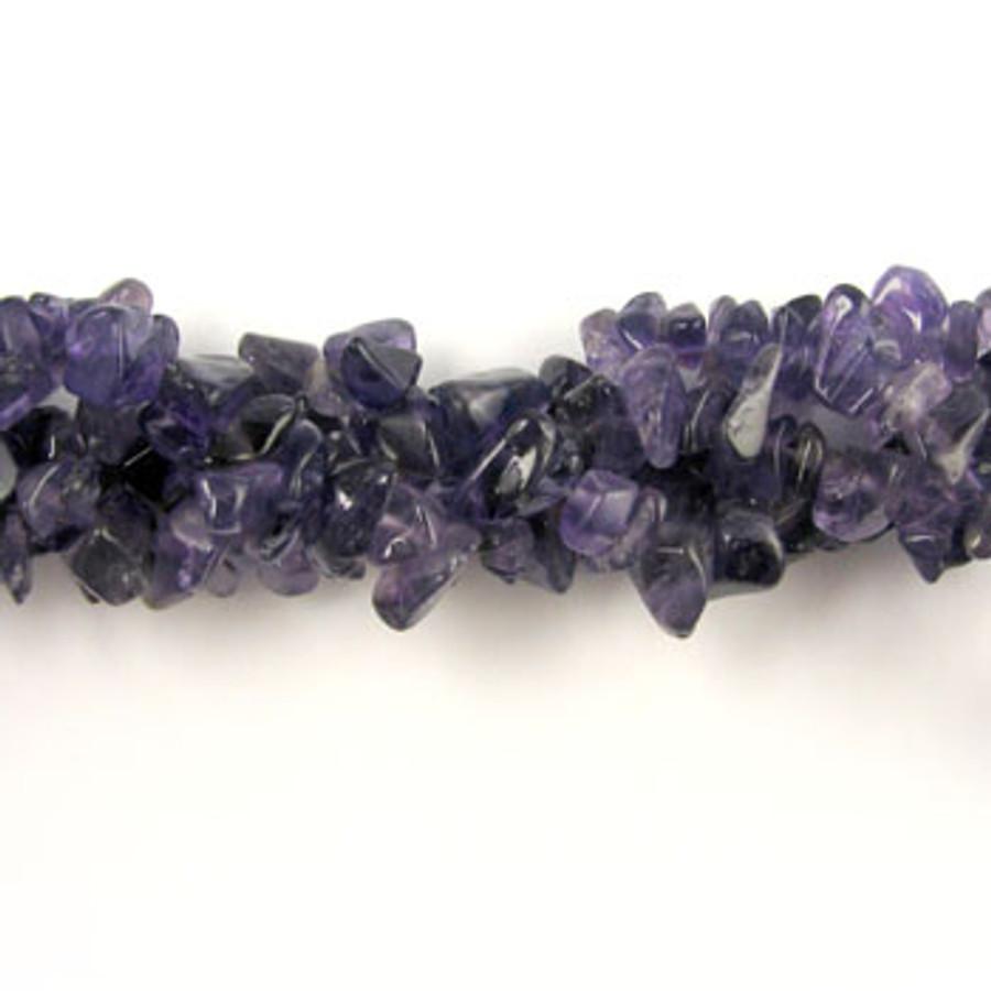 SPSC001 - Amethyst Semi-Precious Stone Chip Beads (36 in. strand)
