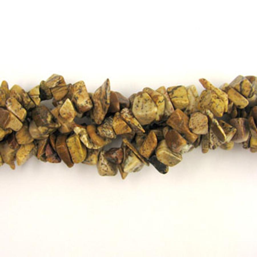 SPSC029 - Picture Jasper Semi-Precious Stone Chip Beads (36 in. strand)