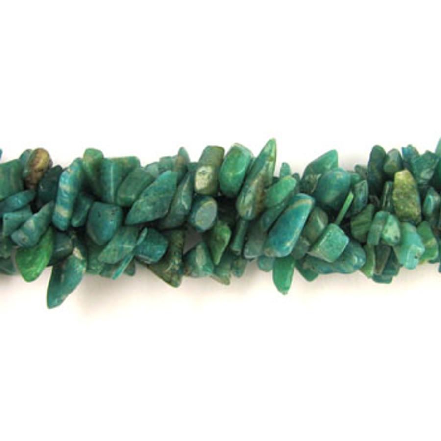 SPSC038 - Russian Amazonite Semi-Precious Stone Chips (36 in. strand)