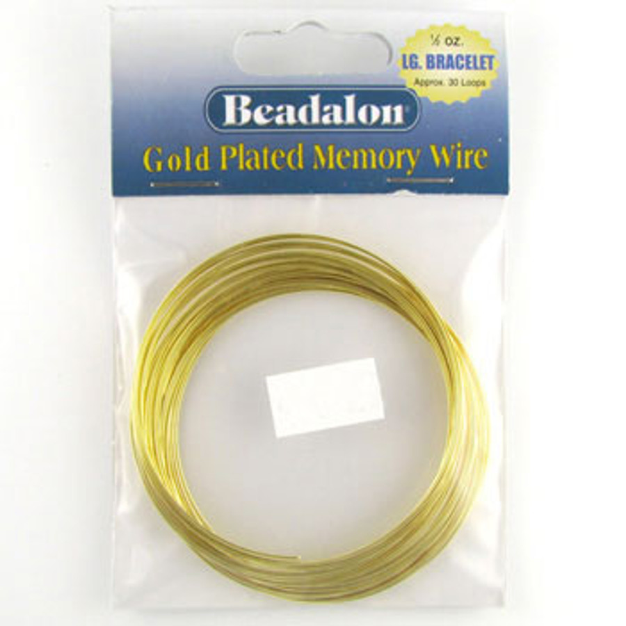 STR0039 - Gold, 30 loops, Lg Bracelet, Beadalon Gold Plated Memory Wire