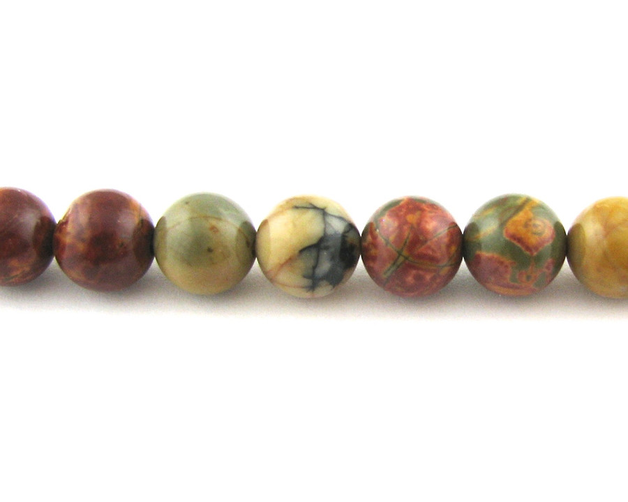 SPS0010 - Red Creek Jasper, 4mm Round (16 in strand)