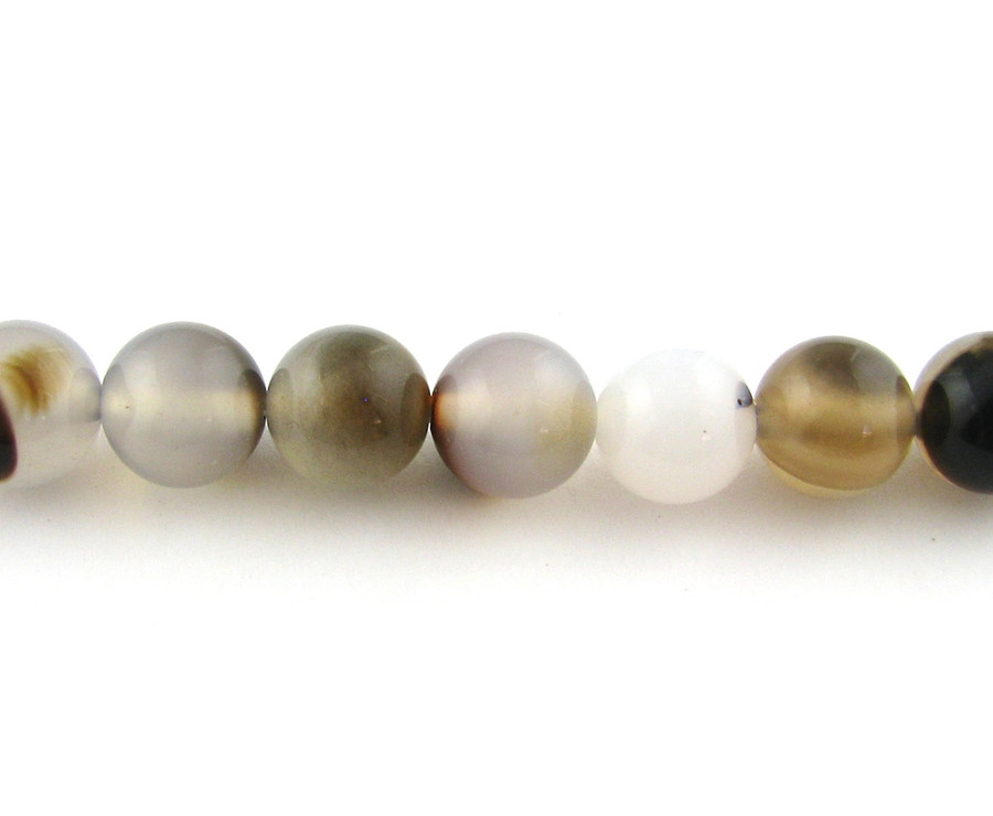 SPS0011 - Flower Agate, 10mm Round (16 in strand)