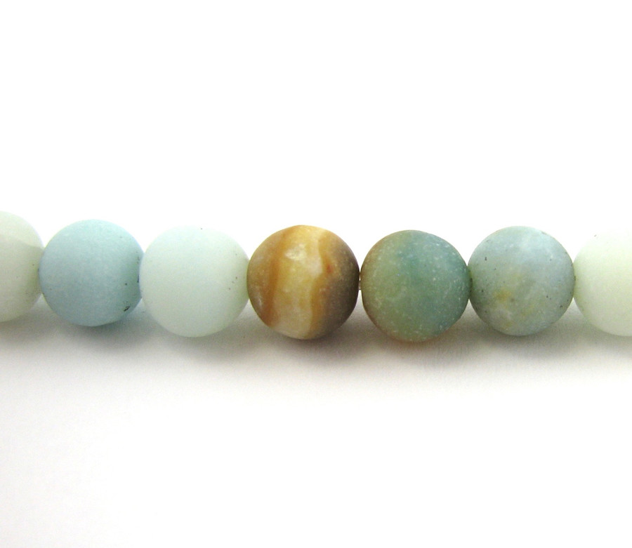 SPS0041 - Matte Black and Gold Amazonite, 4mm Round (16 in strand)