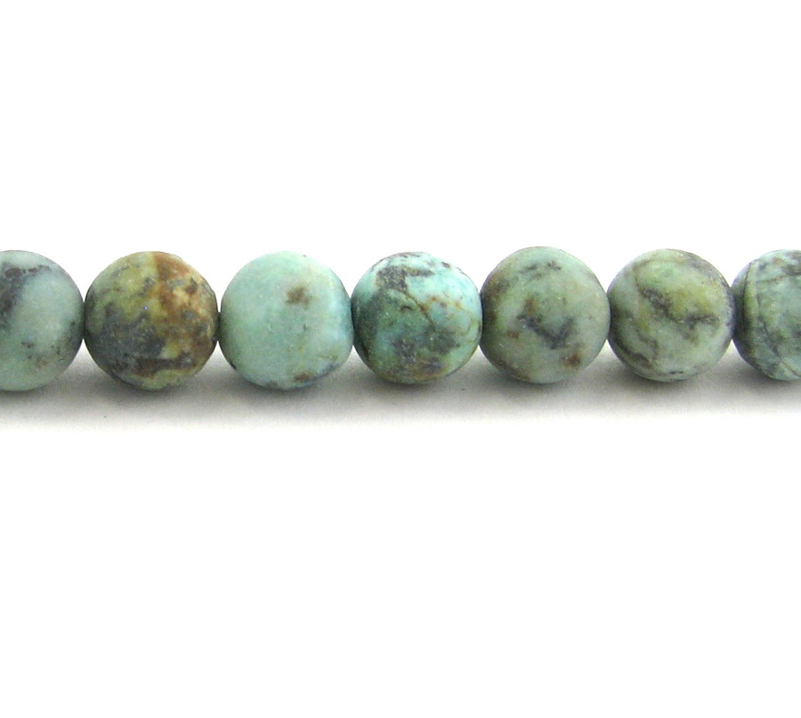 SPS0071 - Matte African Turquoise, 8mm Round (16 in strand)