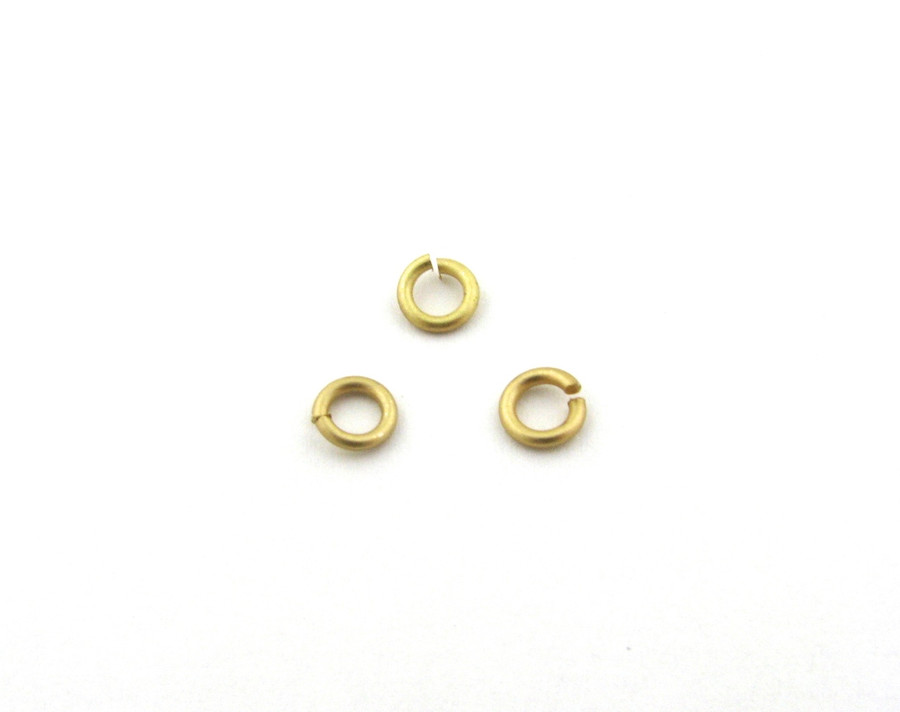 SHGP002 - 4mm 18ga Open Jump Ring, Satin Hamilton Gold Plated (pkg of 100)
