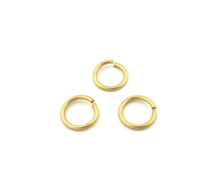 SHGP006 - 12mm 15 ga Open Jump Ring, Satin Hamilton Gold Plated (pkg of 50)