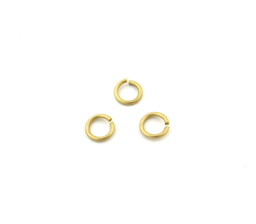 SHGP008 - 6mm 21ga Open Jump Ring, Satin Hamilton Gold Plated  (pkg of 100)