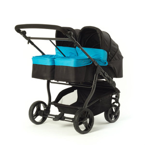 Easy Twin Carrycot Blue