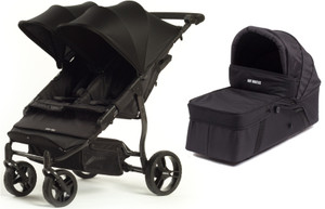 Easy Twin Plus Carrycot Bundle Black