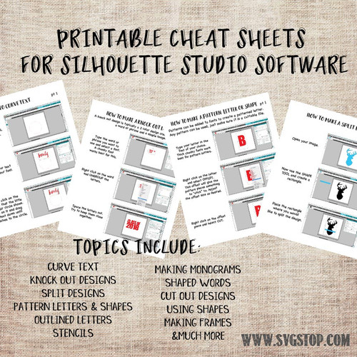 Shop books guides the svg stop printable cheat sheets for silhouette studio beginners guide to creating cut files spiritdancerdesigns Image collections