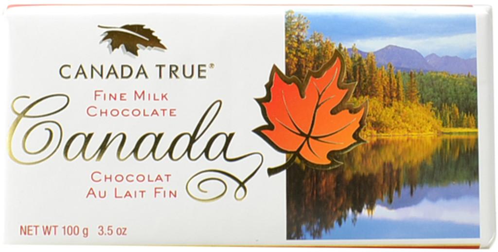 Canada True Scenic Milk Chocolate Bar - Canada (3 Pack of 100 g)