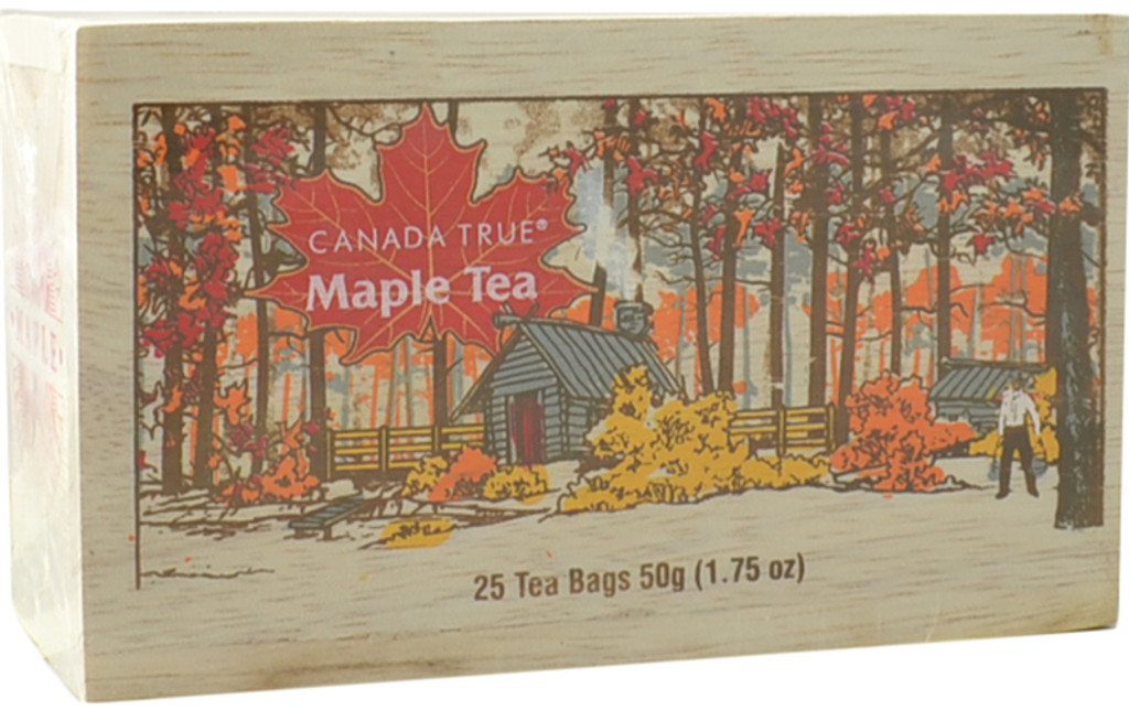 Canada True Maple Tea - Scenic Wood Box (3 Pack of 25 Bags)