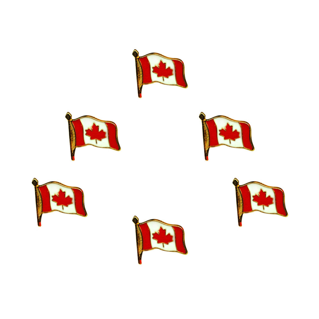 World Class Lapel Pins Canadian Flag (Set Of 6) by Canada True