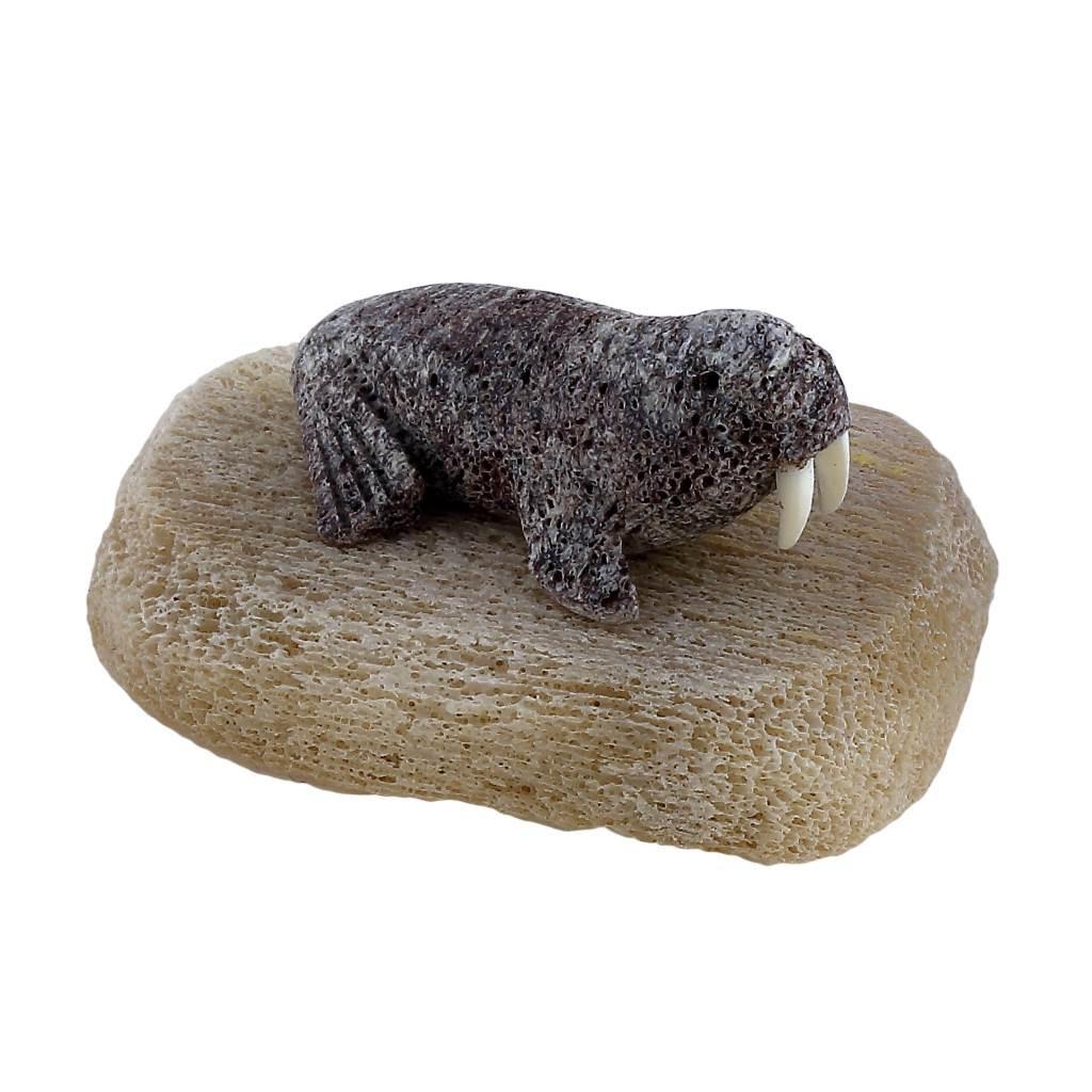 Inuit Walrus Sculpture 2 by Sandy Maniapik
