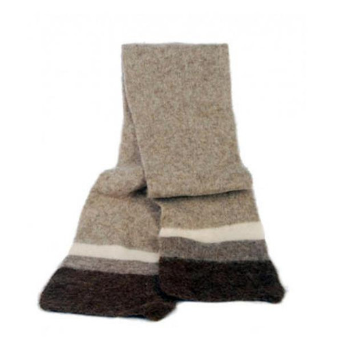 Icelandic Wool Unisex Scarf (Light Brown) by Freyja