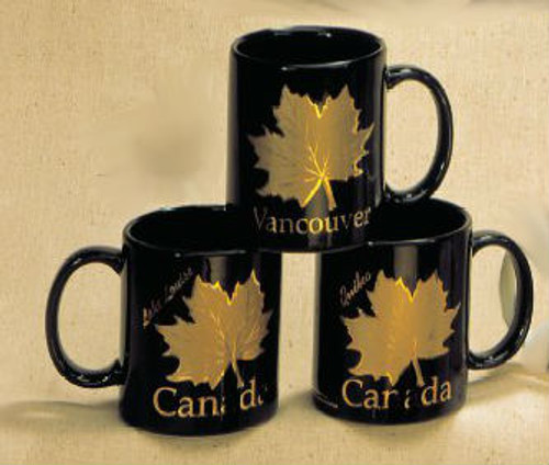 Canada True Canada Mug - Black & Gold