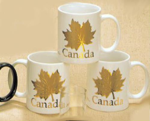 Canada True Canada Mug - White & Gold