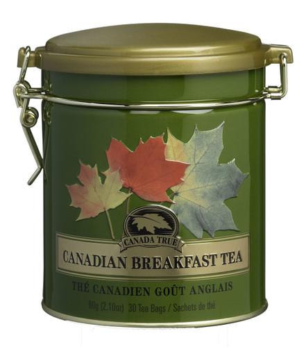 Canada True Canadian Breakfast Tea Tin (3 Pack of 30 Bags)