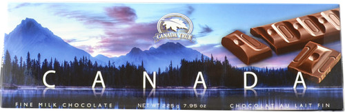 Canada True Scenic Milk Chocolate Bar - Canada (2 Pack of 225 g)