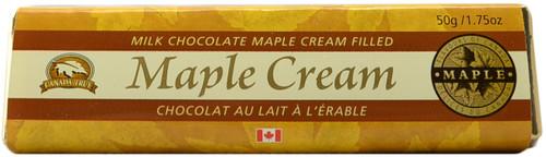 Canada True Maple Cream Chocolate Bar (3 Pack of 50 g)