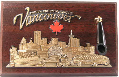 AFG Pen Set Plaque - Downtown Skyline, Vancouver, British Columbia, Canada