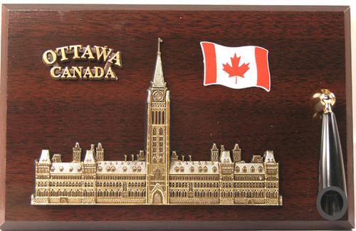 AFG Pen Set Plaque - Parliament, Ottawa, Ontario, Canada
