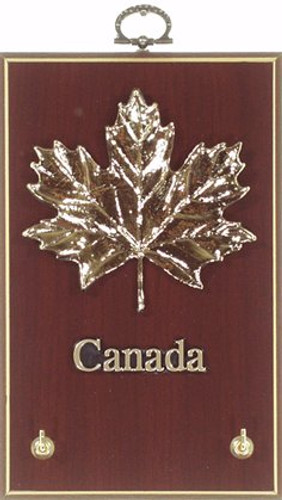 AFG Key Hook Plaque - Maple Leaf Canada